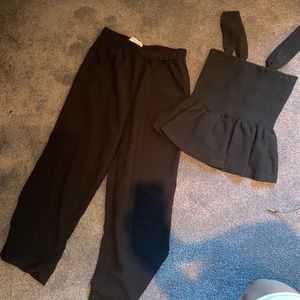 Black matching set